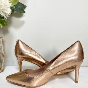 NWOT BCBGeneration metallic rose gold heels